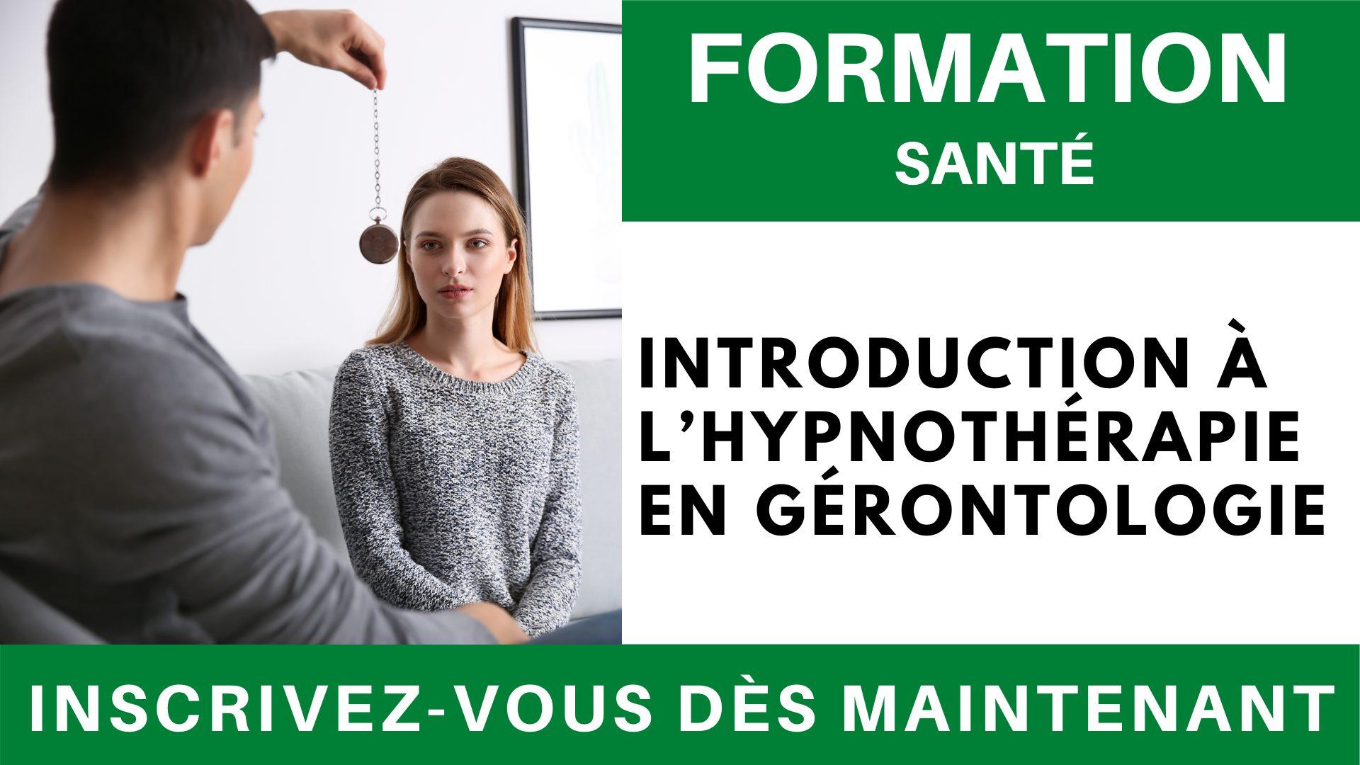Formation SANTE - Introduction à l'hypnothérapie en gérontologie