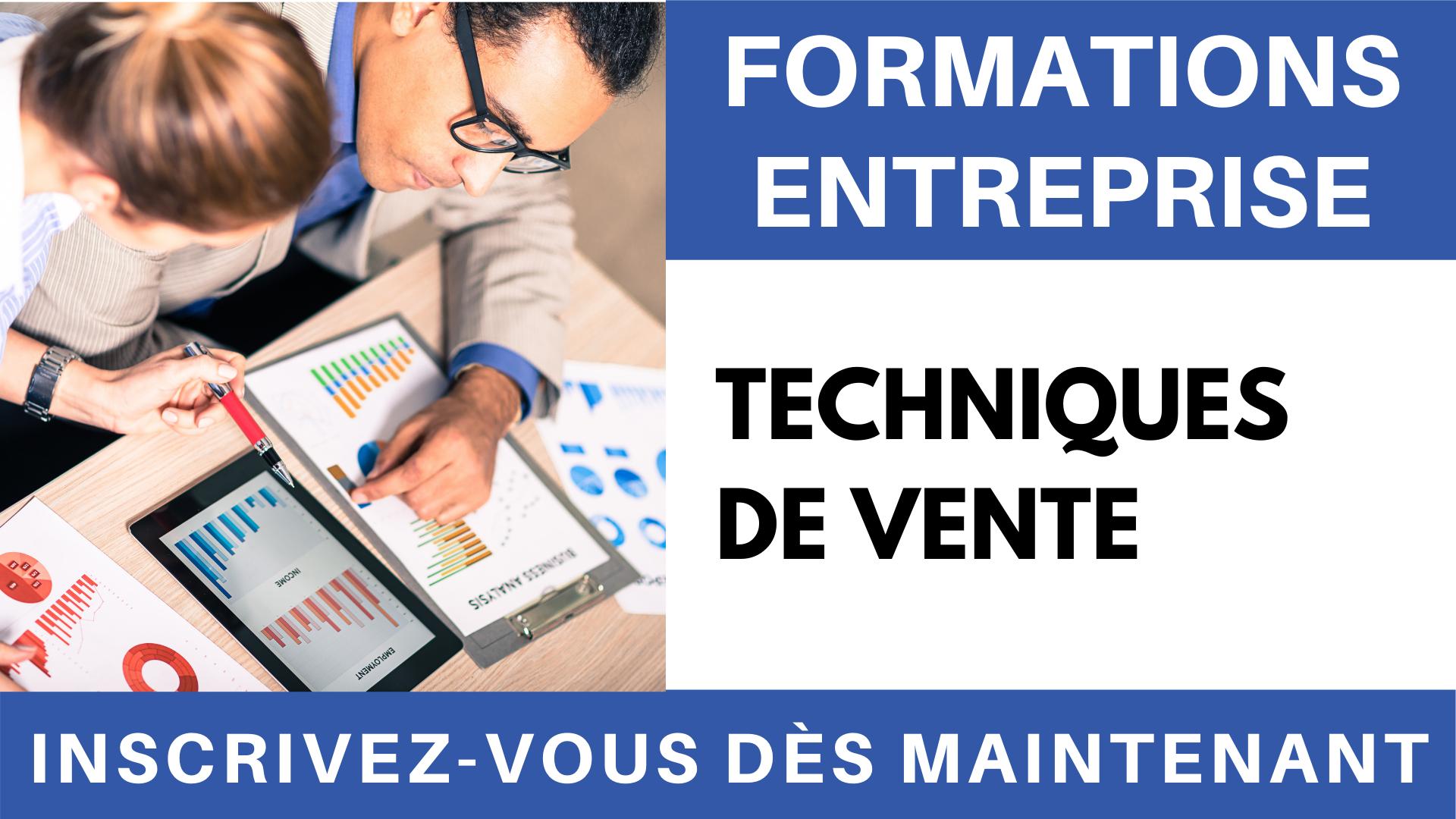 Formation entreprise - Techniques de vente