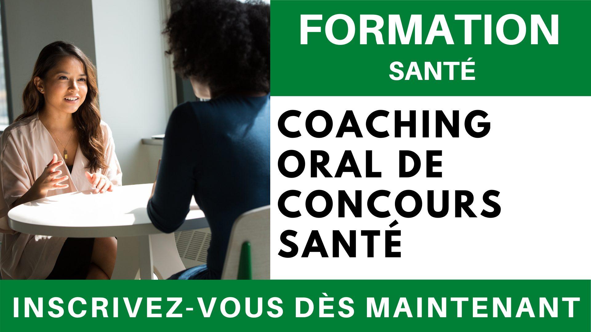 Formation SANTE - Coaching Oral de Concours Santé