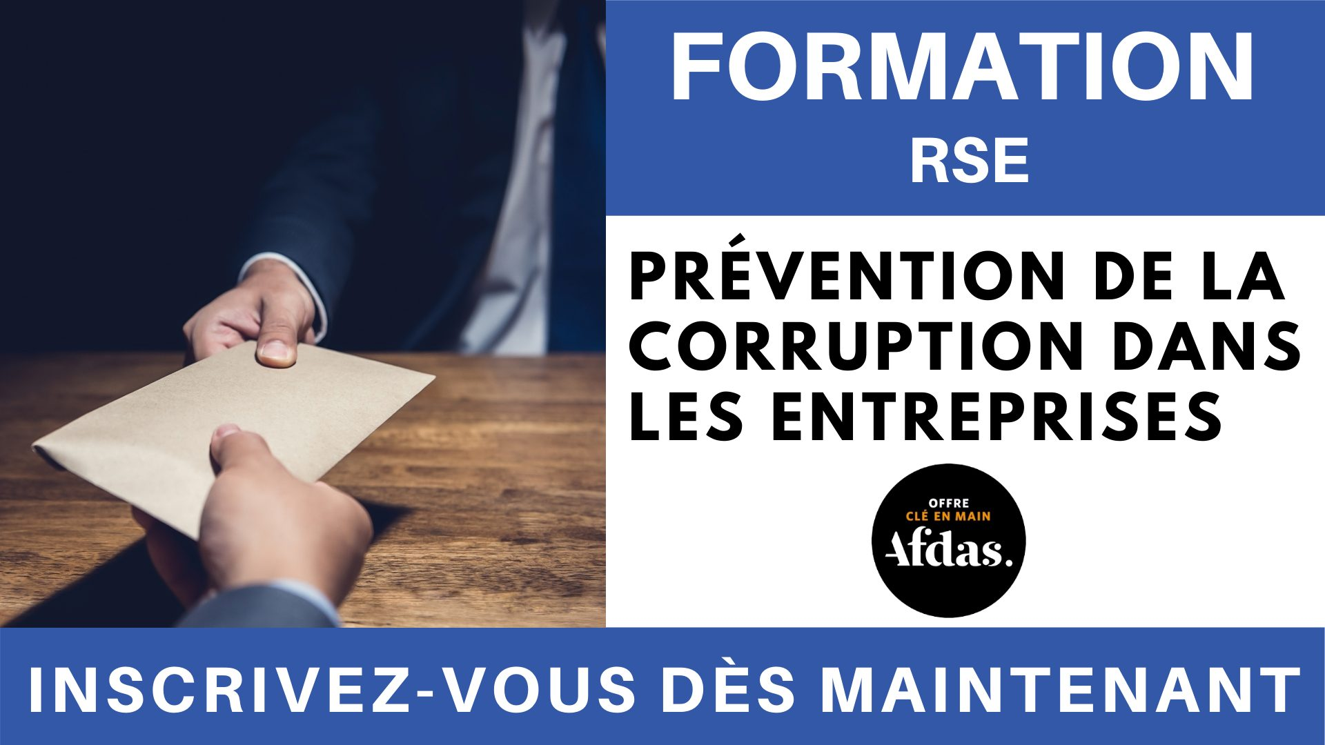 Formation RSE - prévention de la corruption dans les entreprises