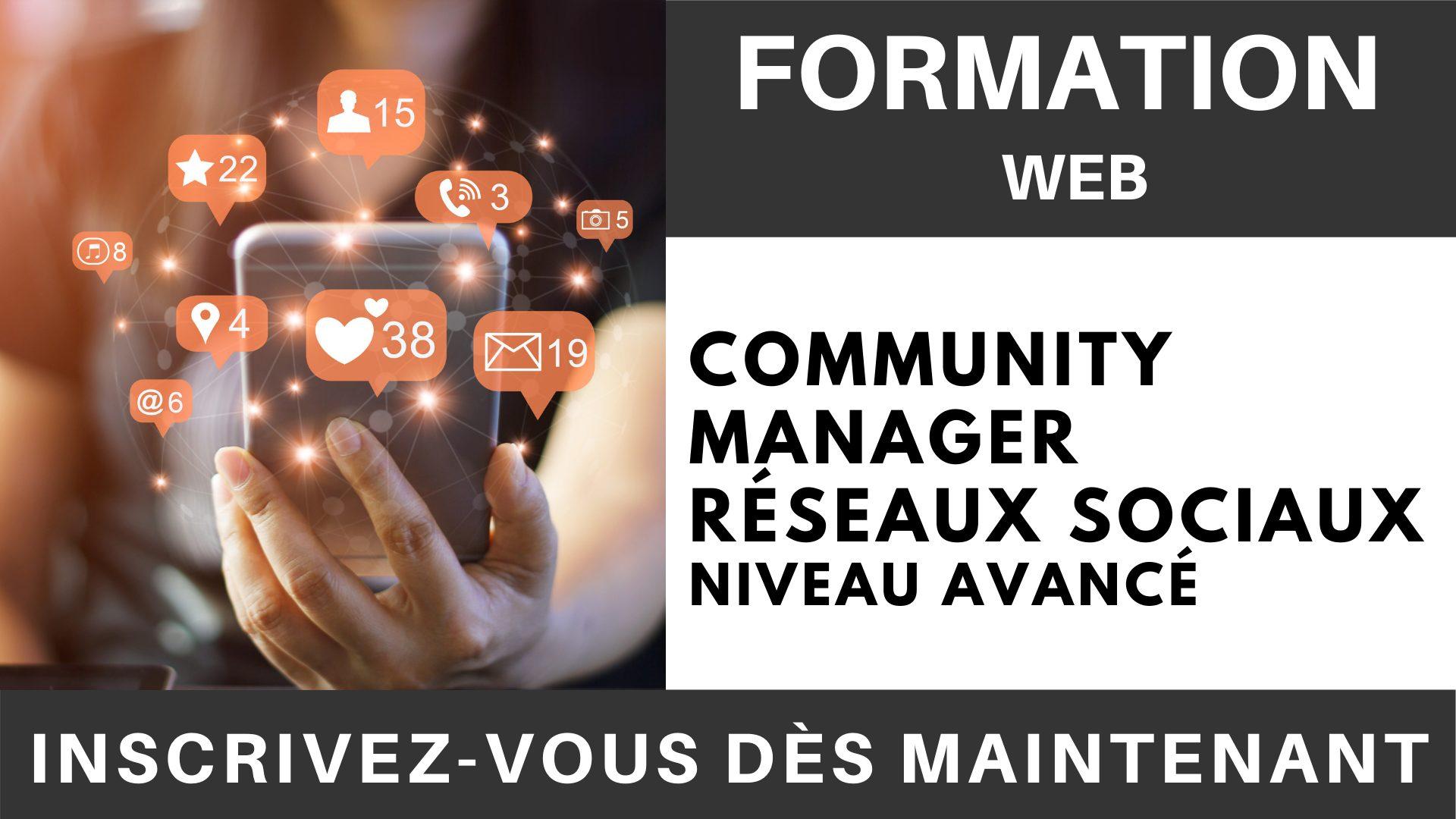 Formation WEB - Community Manager Réseaux sociaux Niveau Avancé