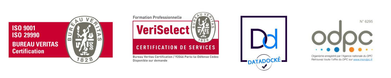 PERSPECTIVE est certifié ISO9001, ISO29990 et VERISELECT pour la qualité de ses formations et de ses bilans de compétences
