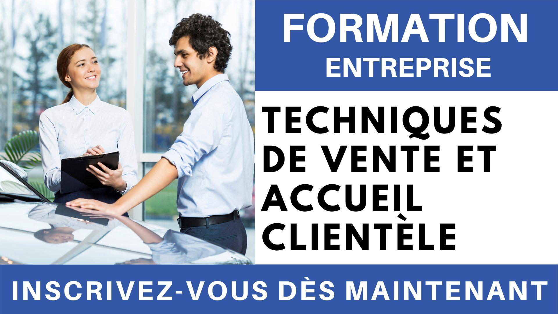 Formation Entreprise - techniques de vente et accueil clientèle