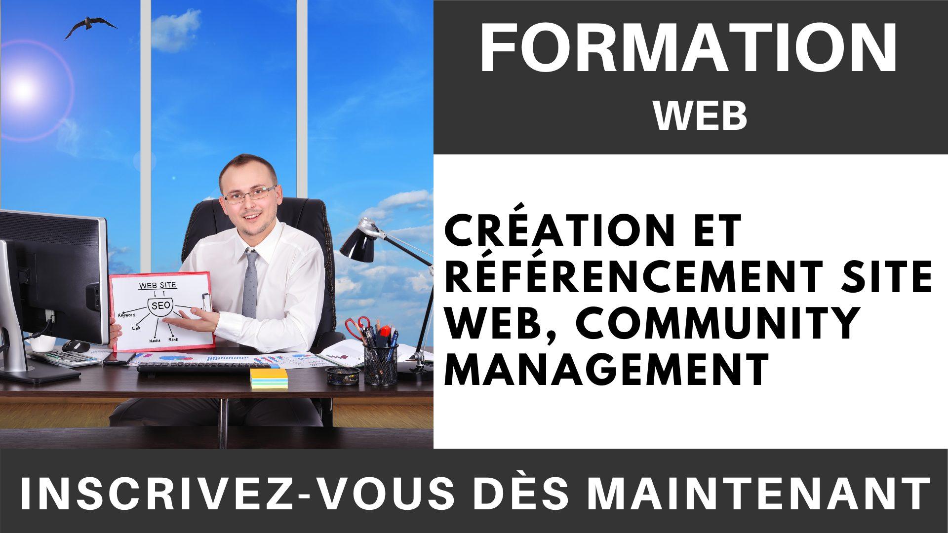 Formation WEB - Création et référencement site web, Community Management