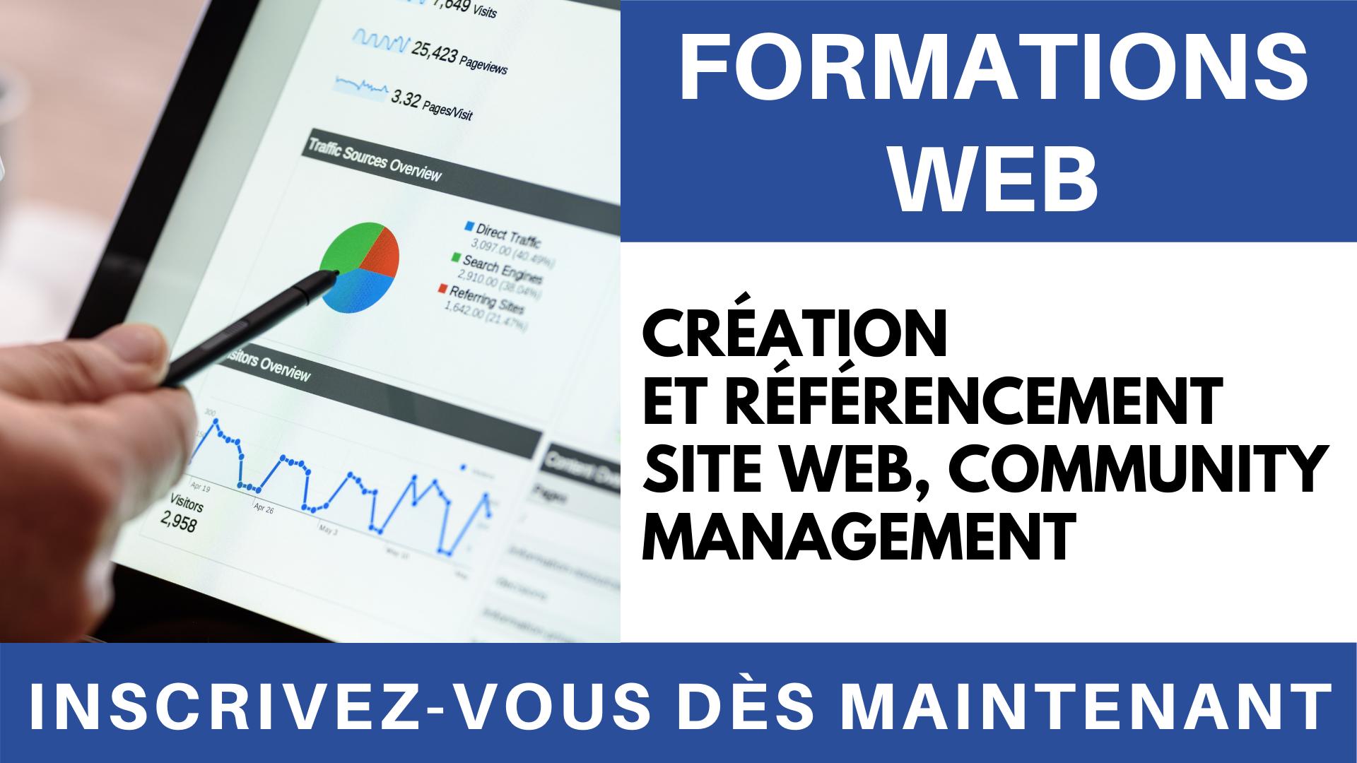 Vidéo - Formation Création et référencement site web, Community Management