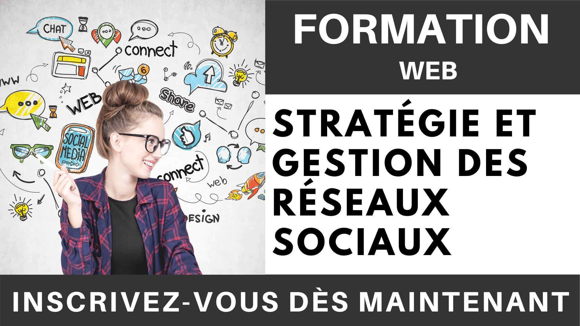 Formation WEB - Stratégie et gestion des réseaux sociaux