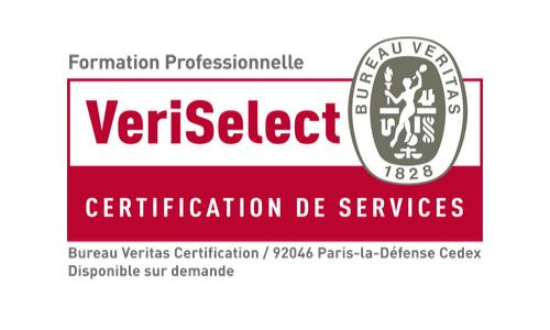 Certifié VERISELECT pour la qualité de ses formations et de ses bilans de compétences