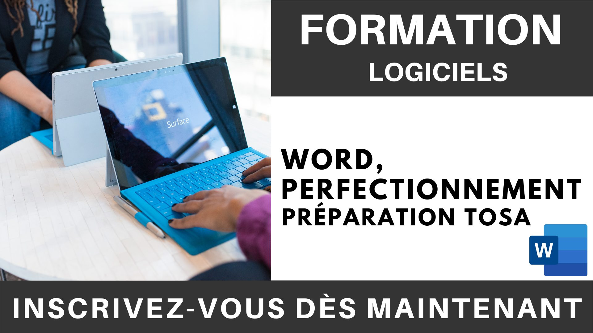Formation LOGICIEL - Word, Perfectionnement - Préparation TOSA