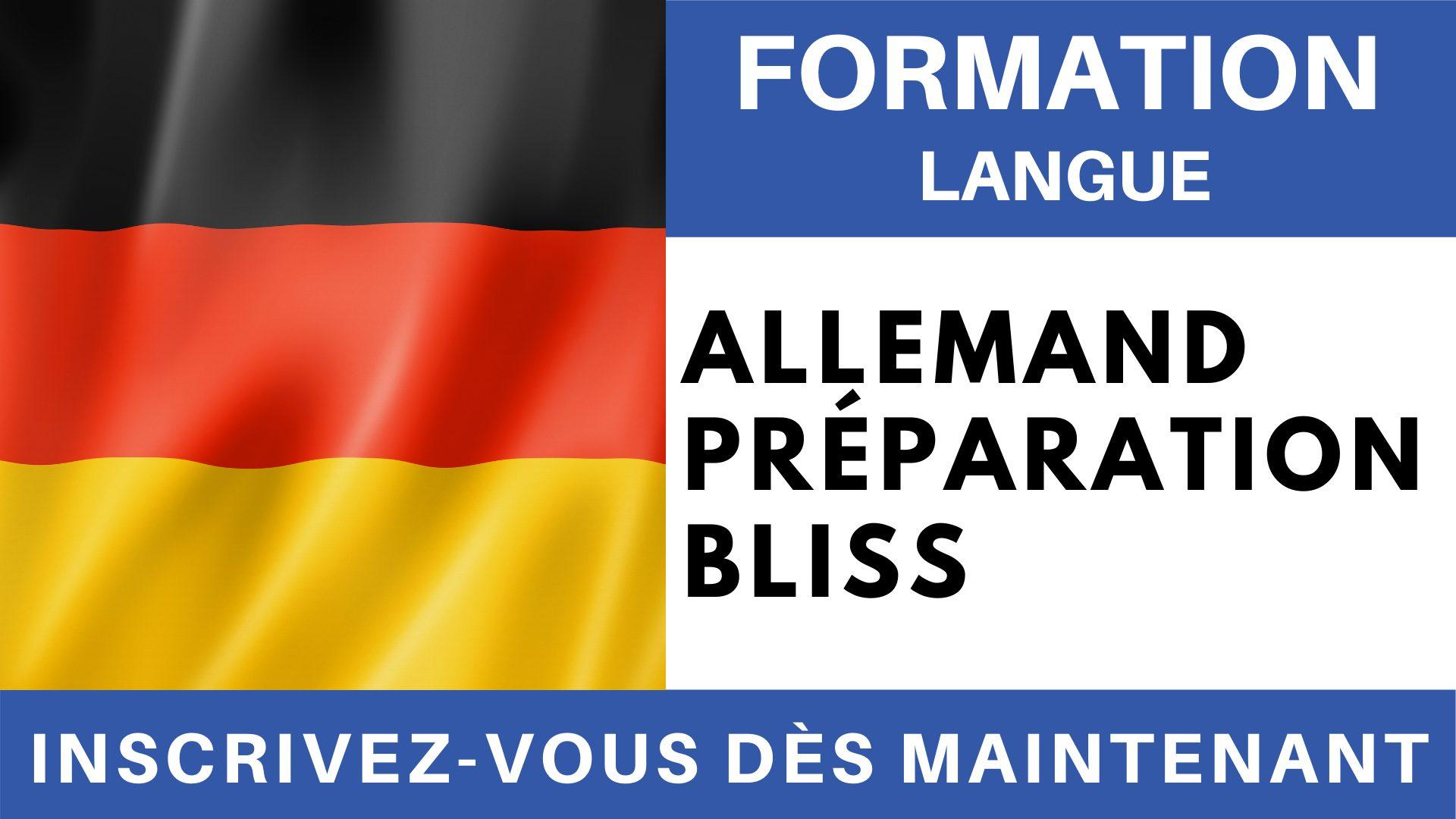 Formation Langue - Allemand Préparation BLISS