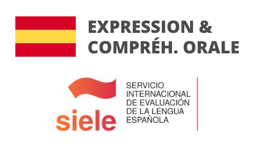 Formation Espagnol Expression et compréhension orale Préparation SIELE