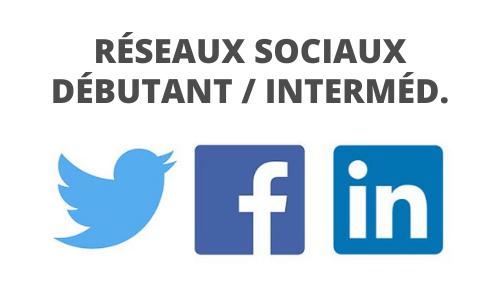 Formation Réseaux sociaux débutant intermédiaire