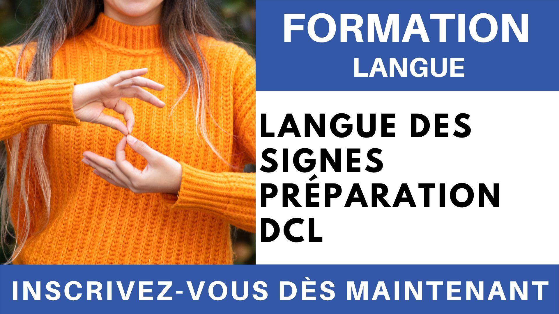 Formation Langue - LSF Préparation DCL
