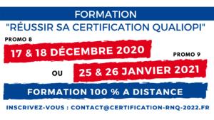 Formation Réussir QUALIOPI Décembre 2020 Janvier 2021