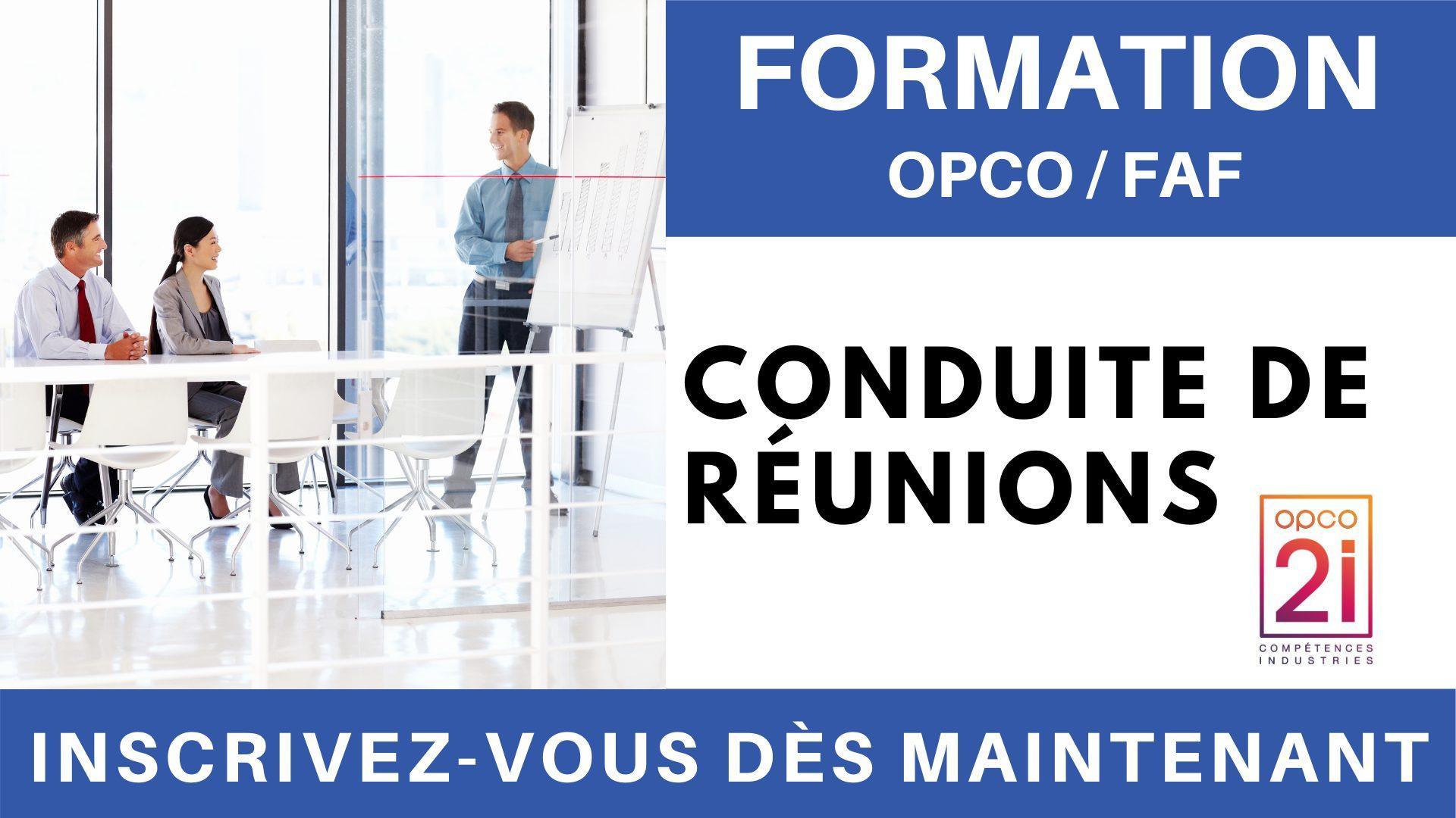 Formation OPCO FAF - Conduite de réunions