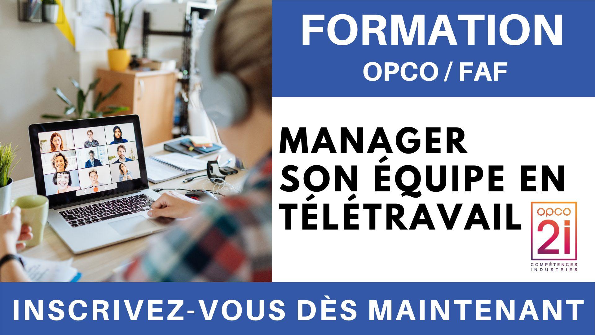 Formation OPCO FAF - Manager son équipe en télétravail