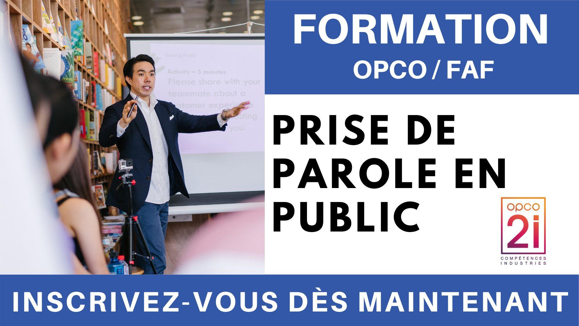 Formation OPCO FAF - Prise de parole en public