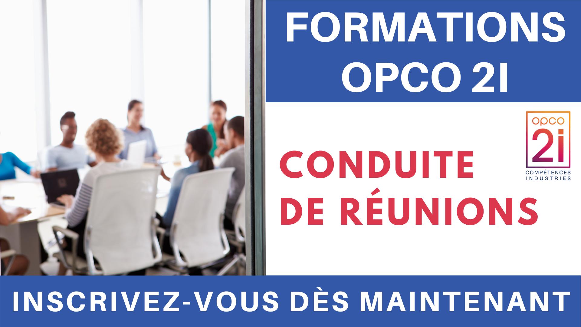 Pub Formations OPCO 2i - Conduite de réunions