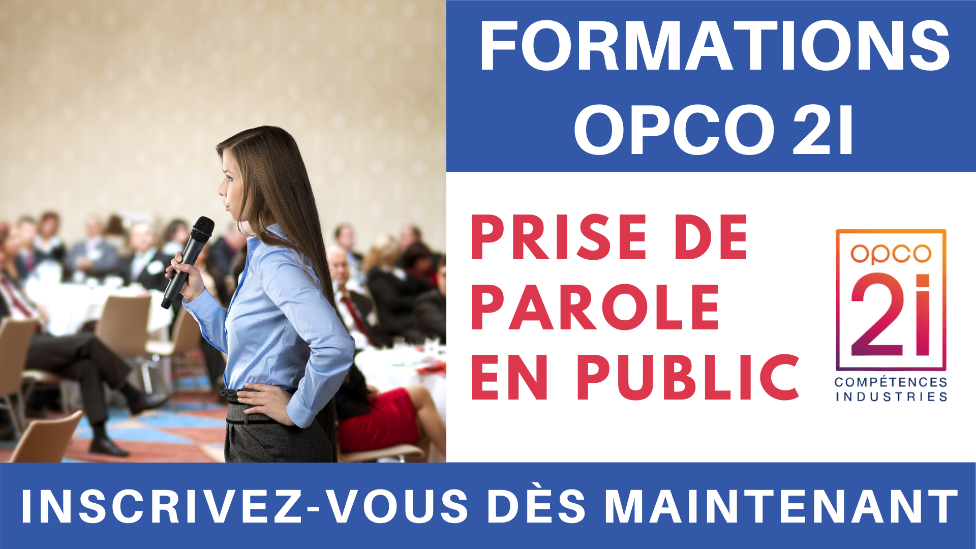 Pub Formations OPCO 2i - Prise de parole en public