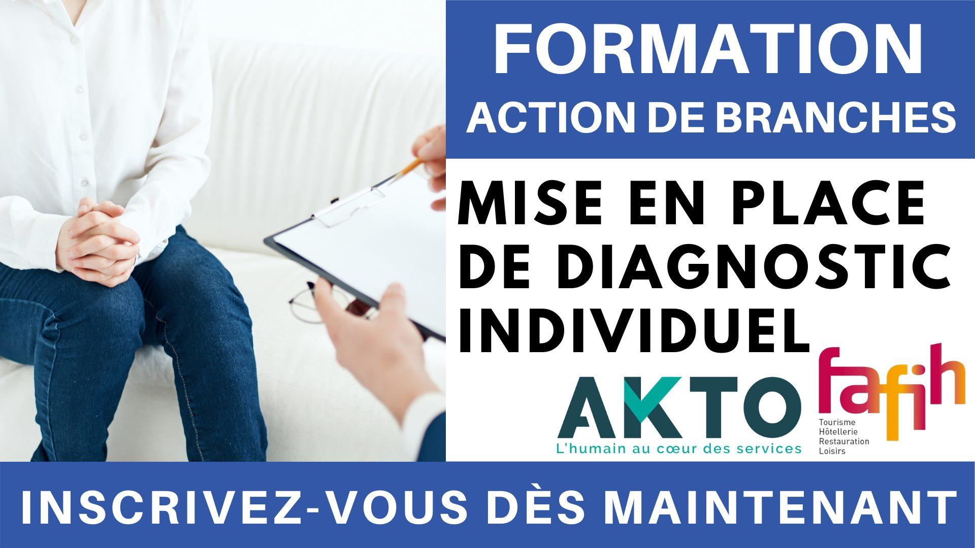 Formation Action de branches  Mise en place de diagnostic individuel