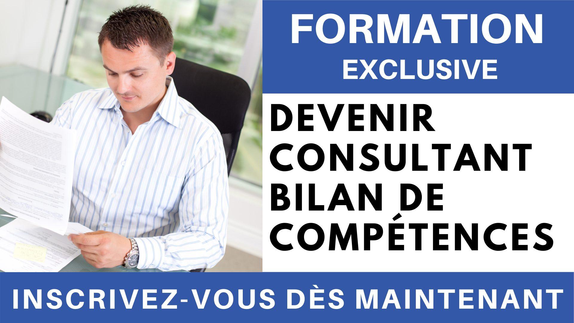Formation Exclusive - Devenir consultant bilan de compétences