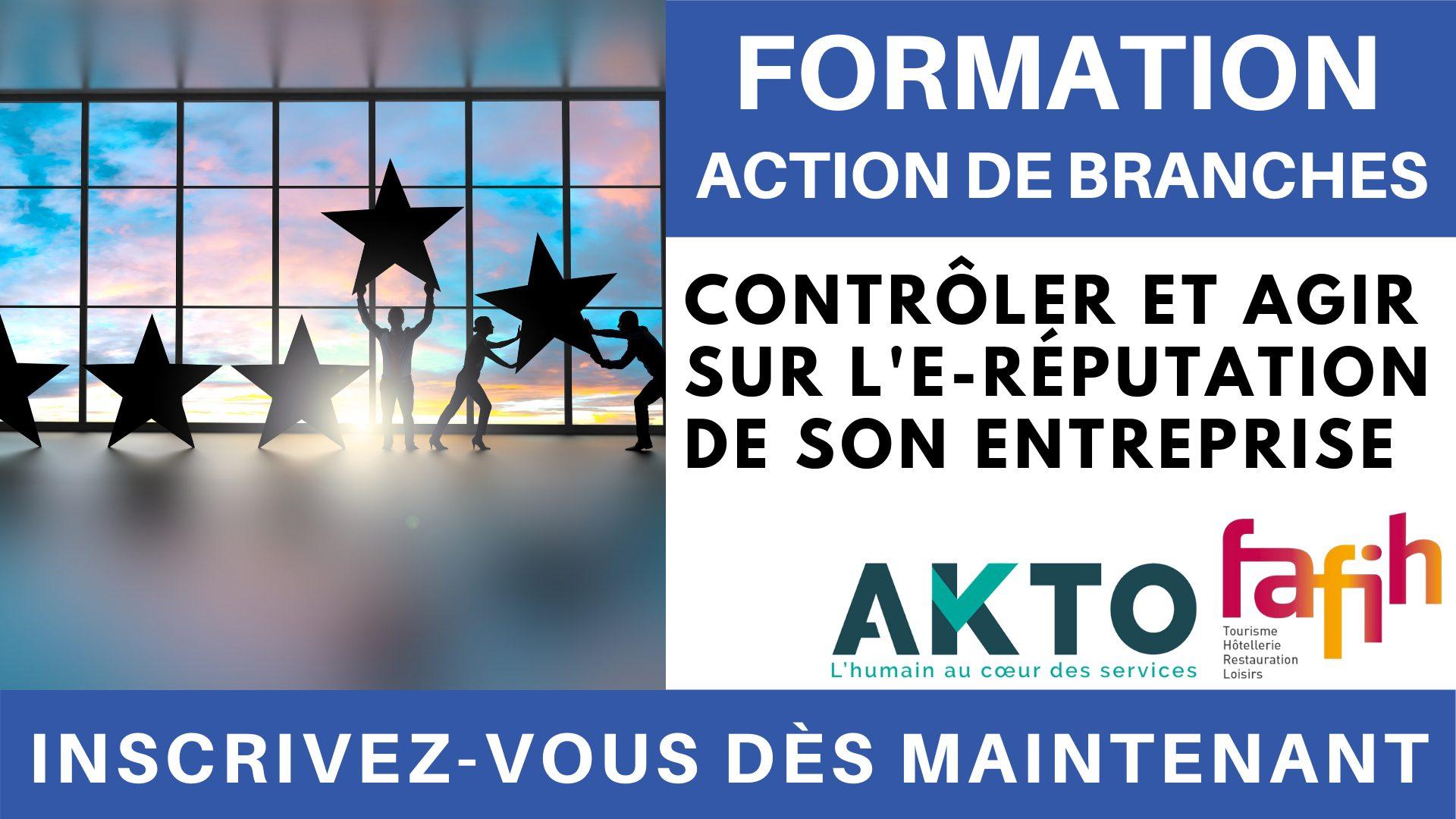 Formation Action de branches - Contrôler et agir sur l'e-réputation de son entreprise